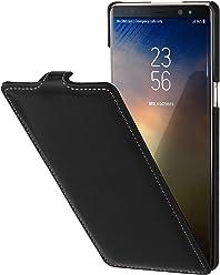 StilGut UltraSlim Case, Custodia Flip Case per Samsung Note 8 Cover Verticale in Vera Pelle Pregiata