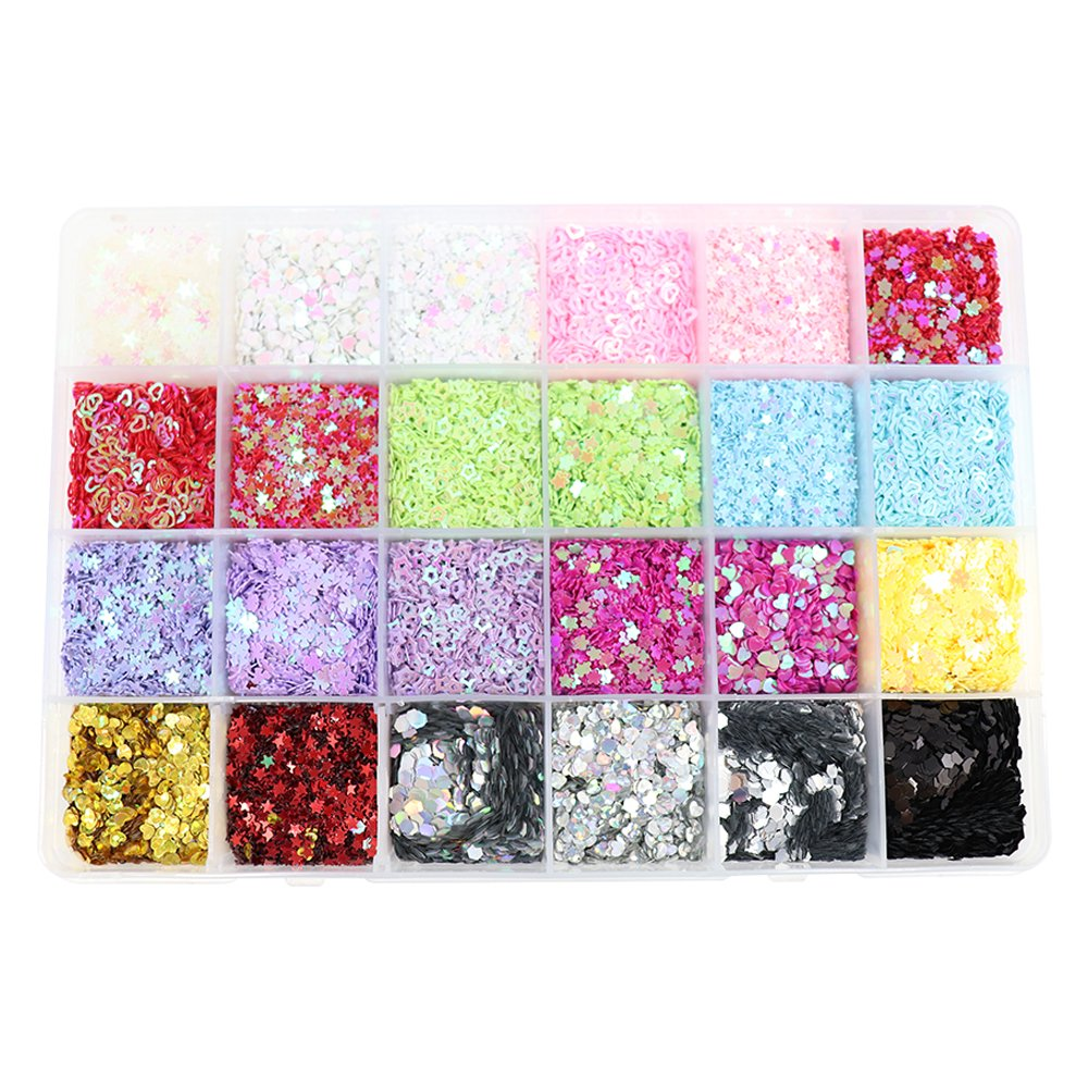 5mm Mix 15 Colors Rainbow Cup Sequin for Wedding Decoration (1box/lot) Sorrento Crafts 24010058(5HS1box)