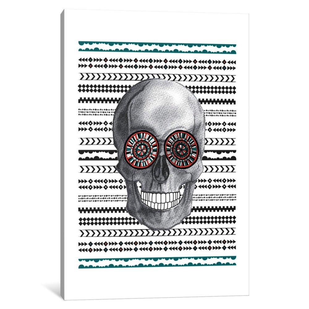 iCanvasART 3 Piece Navajo Skull Canvas Print by Susan Claire 60 x 40 x 1.5-Inch