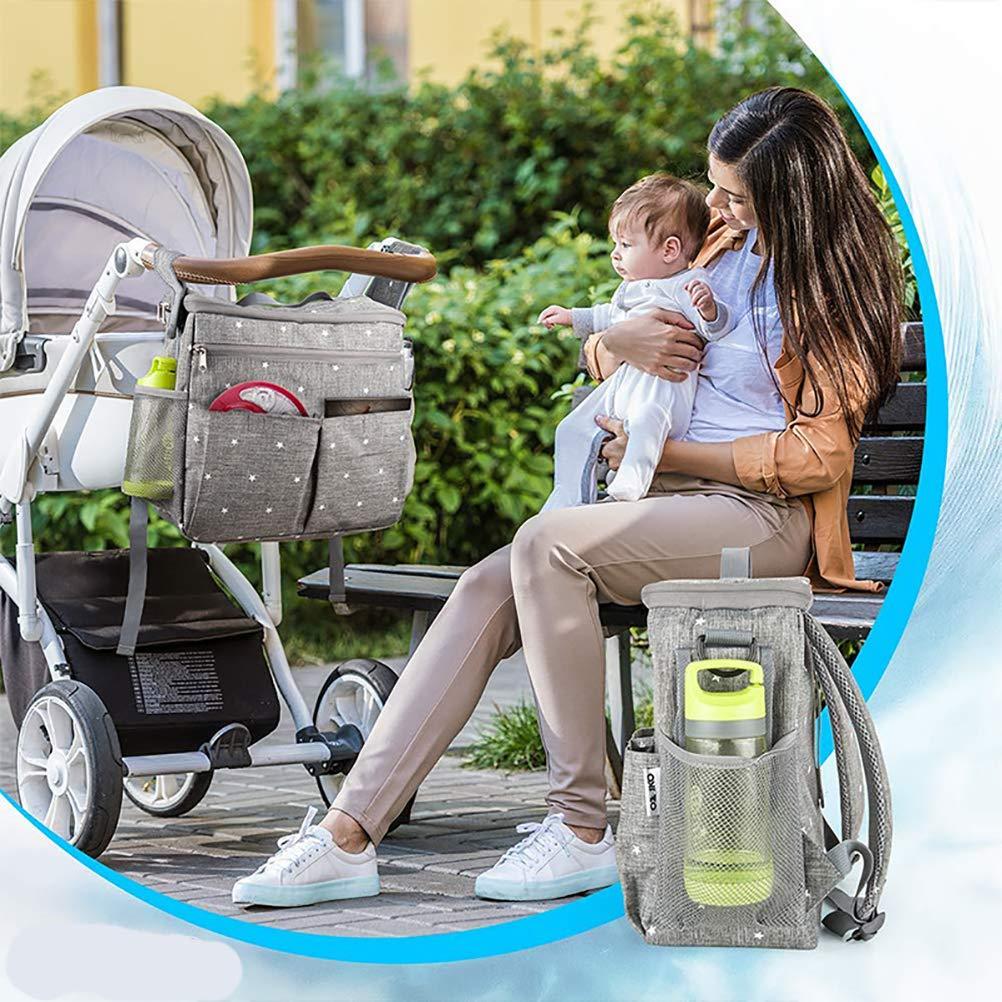 Kawosh Organizador de Cochecito de beb/é Bolsa de Cochecito Buggy Organizer Bag Baby Storage Bag Stroller Baby Stroller Accesorio 13.5 7.5 12.5inch