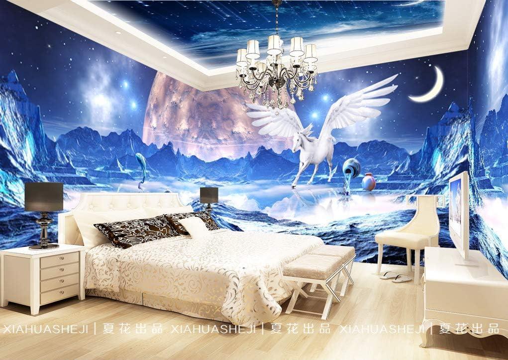 AQSGH Caballo en blanco de la estrella de la fantasía 3D KTV bar ...