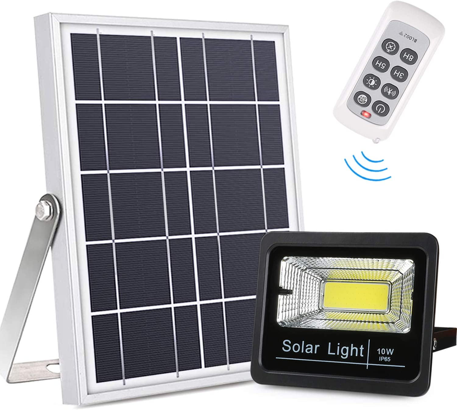 Updated Solar Flood Lights with Multi Modes, Remote Control Solar Lights Dusk to Dawn, Motion Sensor Solar Security Lights Auto On/Off Outdoor Waterproof for Yard, Barn, Driveway, Deck, Farm, Patio