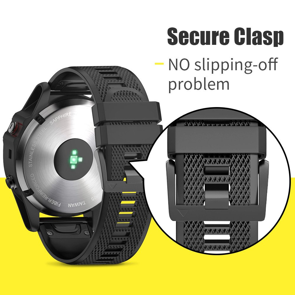 ANCOOL Compatible with Forerunner 935 Bands Easy Fit Mechanism Silicone Watch Bands Replacement for Forerunner 935/Fenix 5/Fenix 5plus/Approach S60 Smartwatches, 7-Pack by ANCOOL (Image #5)