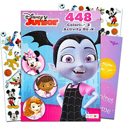 Amazon.com: Disney Vampirina gigante juego de libro para ...