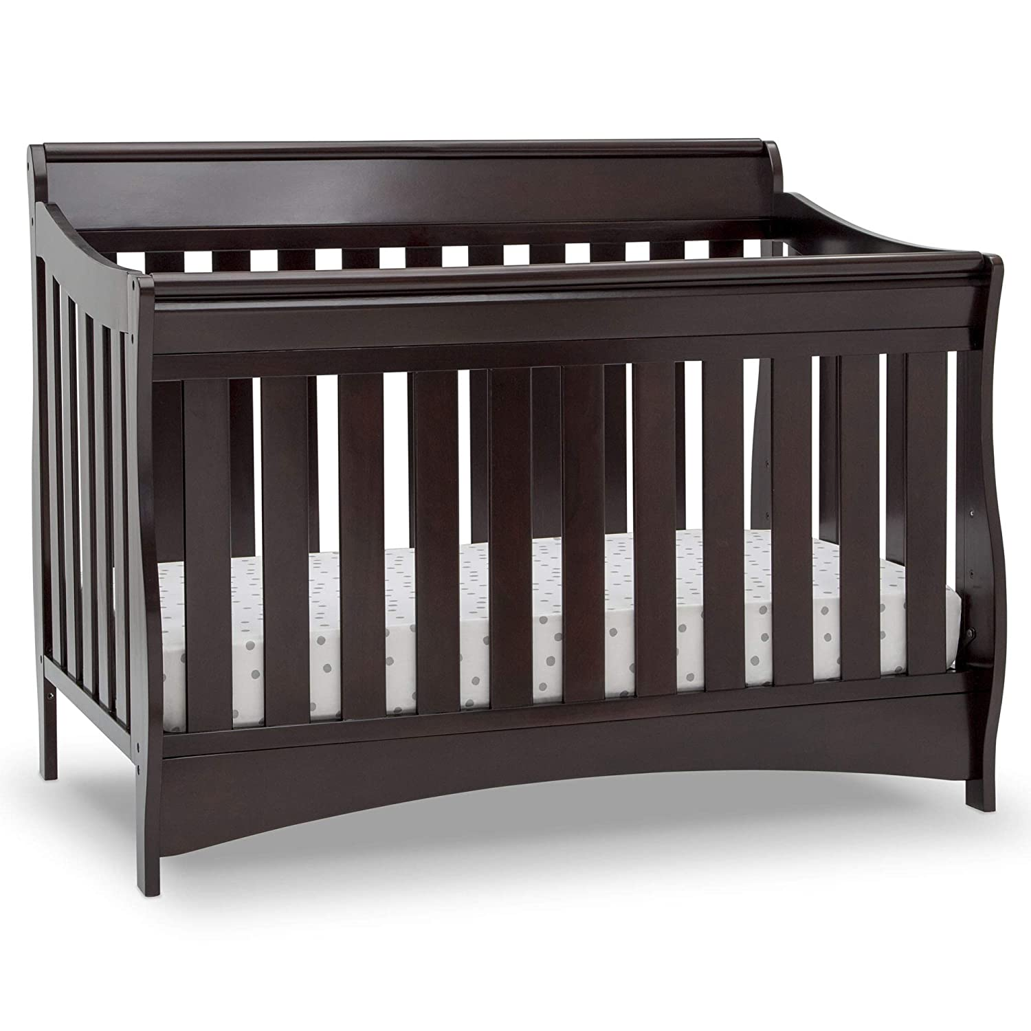 Delta Children Bentley S Series Deluxe 6-in-1 Convertible Crib, Dark Chocolate