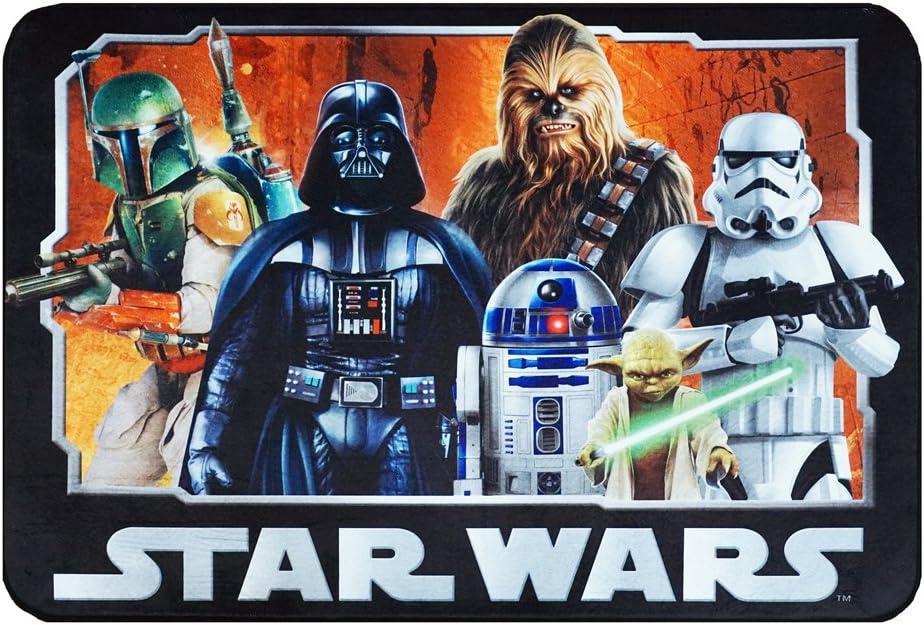 """Star Wars Rug HD Digital ep 5 Darth Vader, Yoda, Chewbacca, R2D2 Bedding Wall Decals Area Rugs, 40"""" x 54"""", Standard"""