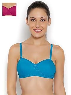8b19211528 Floret Women s Blended Cotton Minimizer Bra  Amazon.in  Clothing ...