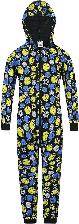 Basket per Sport Abbigliamento da casa Pigiama Intero in 100/% Cotone Calcio Rugby The PyjamaFactory