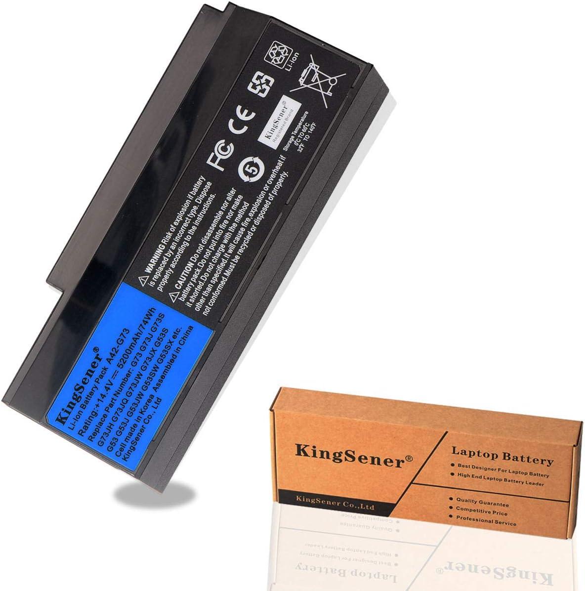 KingSener Korea Cell New A42-G73 Laptop Battery for ASUS G53 G53S G53J G53JW G53SX G73 G73S G73J G73JH G73JQ G73JW G73JX G73SW G73-52