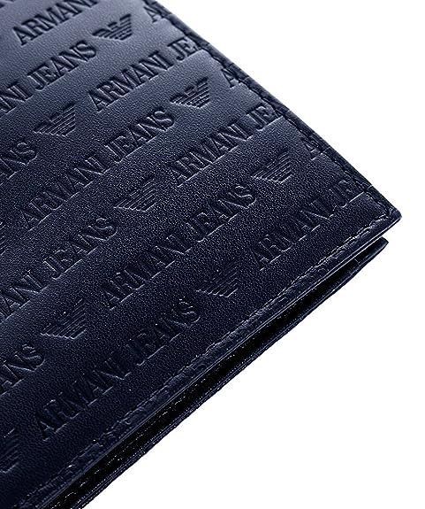 Armani Jeans Hombres Billetera de cuero Logo billetera única ...