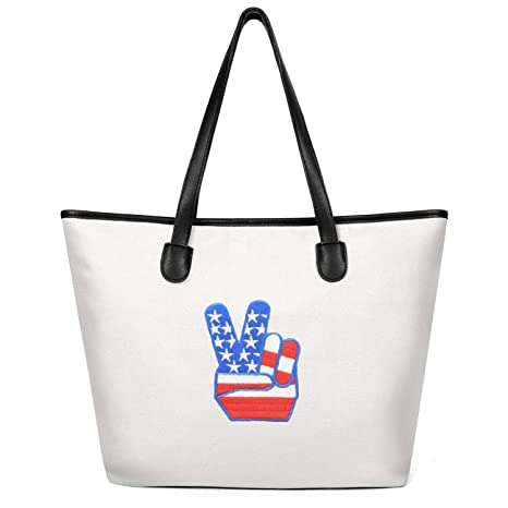 e5348b789642 Amazon.com: Canvas Large Tote Bag for Women's Novelty 1 Yeah ...