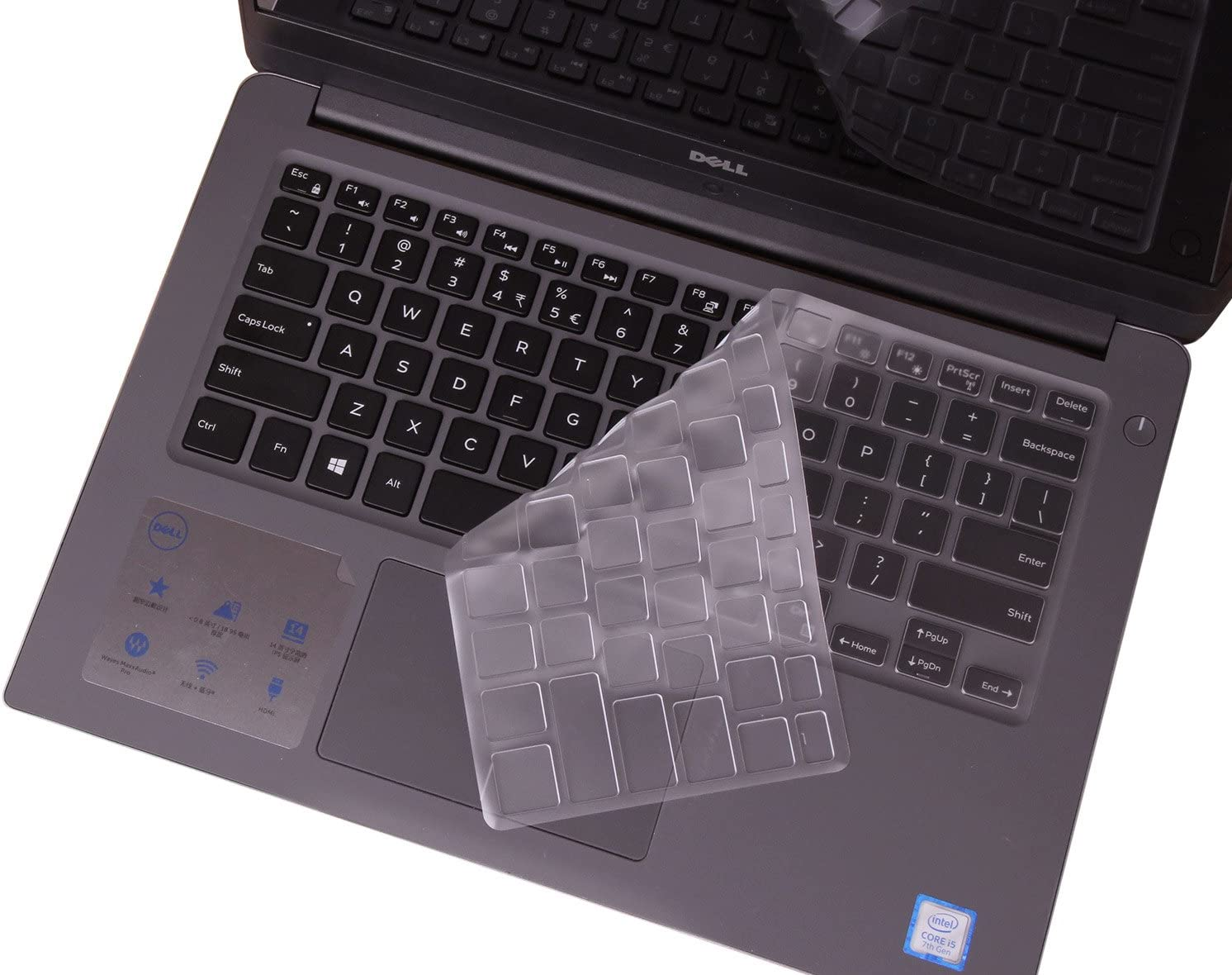 Keyboard Cover for Dell Inspiron 5000 14 5481 5482 5485 5491 2-in-1 14 Inch/Inspiron 13 i5368 i5378 i5379 5585 7373 7375 7368 7378 7380 7386/ Inspiron i5568 i5578 7573 7570 7569 7579 7580 7586, TPU