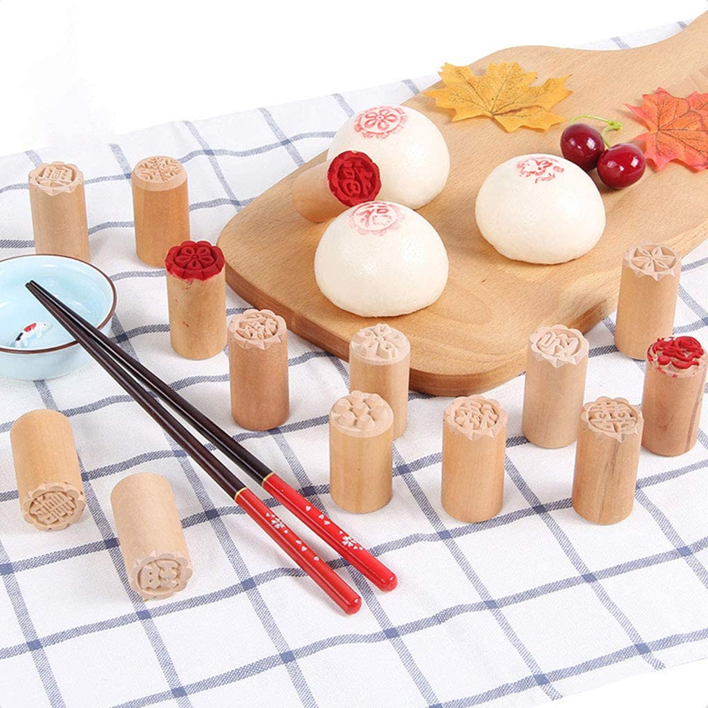 1PC Cake Mold Wood Dessert Seal Stamp Traditional Chinese Moon DIY Cookie