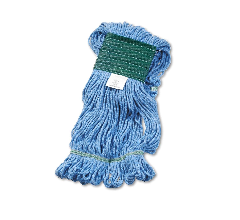 Unisan 502BLEA Super Loop Wet Mop Head, Cotton/Synthetic, Medium Size, Blue B001CXSHKE