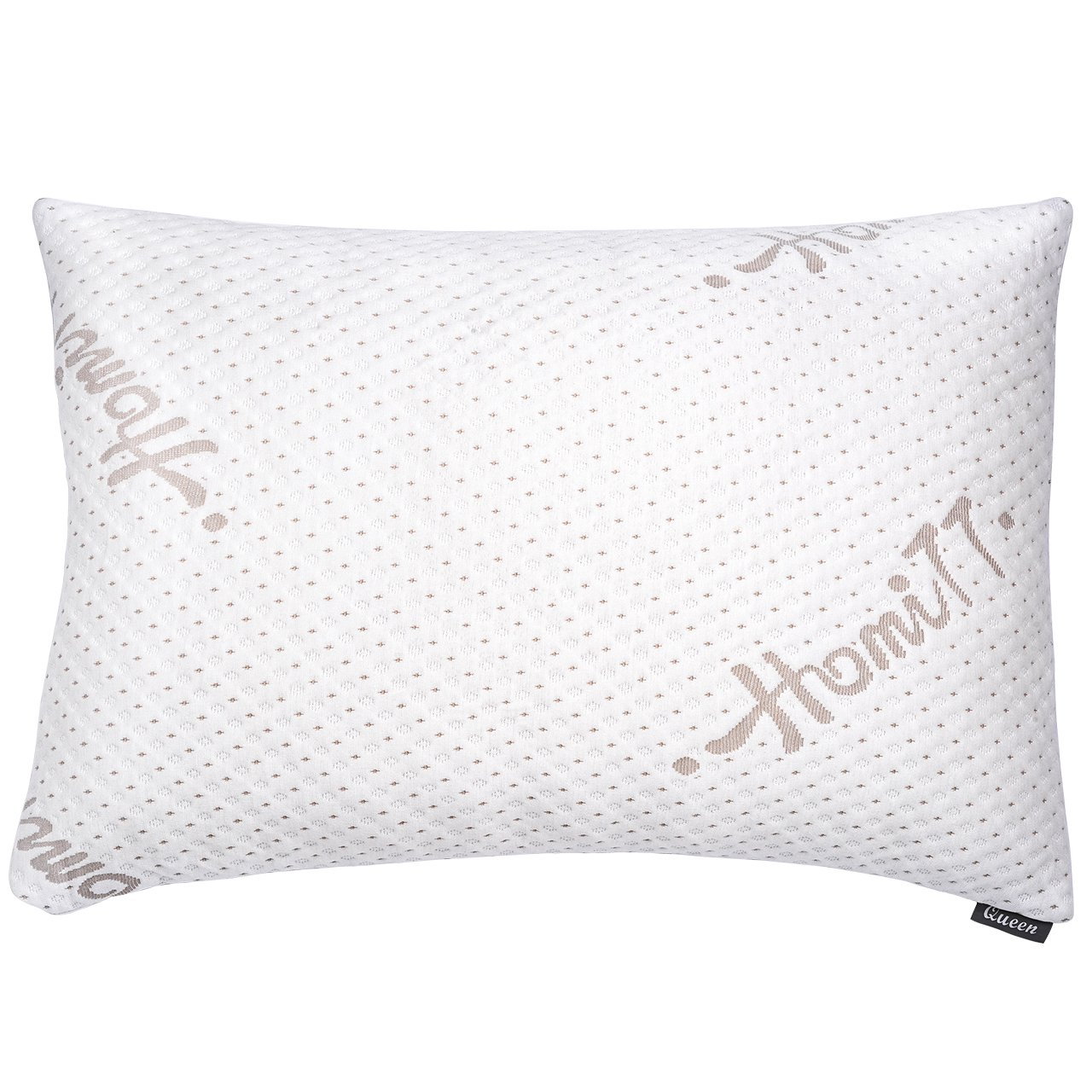 Homitt Shredded Memory Foam Bamboo Pillow, Adjustable Height Hypoallergenic Pillow with Original Memory Foam and Removable Bamboo Derived Rayon Cover HTMF-01