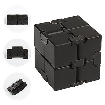 infinity cube amazon. jzh metal aluminum infinity cube fidget toy, decompression toys rubik\u0027s cube. (black amazon l