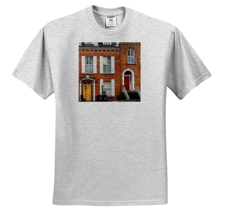 T-Shirts 3dRose Jos Fauxtographee Dublin Doors Red and Yellow Dublin Doors in red and Yellow at Two Different Homes