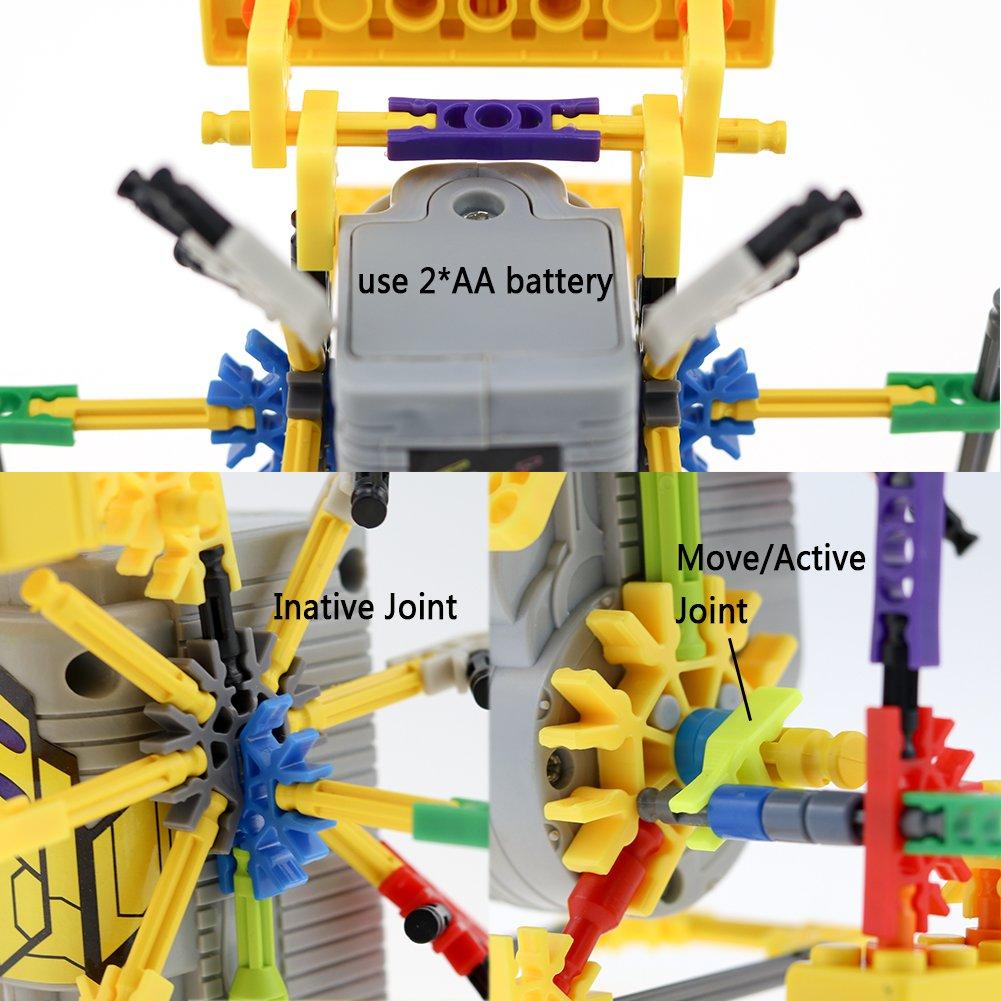 122 Parts Kangaroo LITAND Alien Toys for Kids // Robotic Building Set // Battery Powered Robotic Kits // 3d Puzzles for Kids JZL