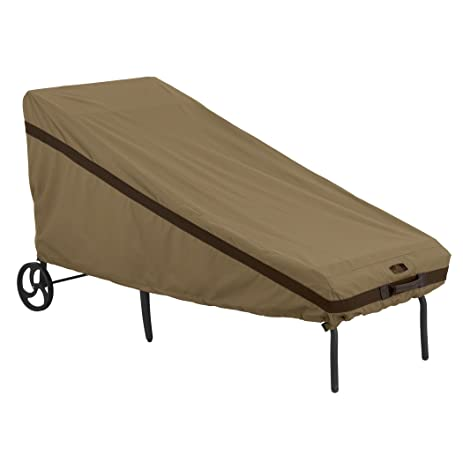 Classic Accessories Hickory Heavy Duty Patio Chaise Lounge Cover   Durable  And Water Resistant Patio Cover