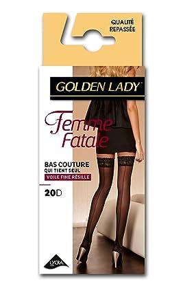 online retailer 5af63 038a0 GOLDEN LADY - Calze di lycra, donna, Nero (Noir), 1/2- FR ...