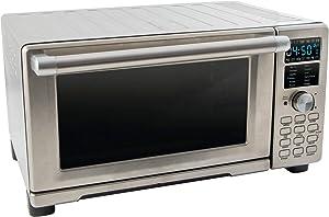 NuWave 20801 Bravo XL Air Fryer/Toaster Oven w/digital temperature probe + Square Pan Accessory Bundle