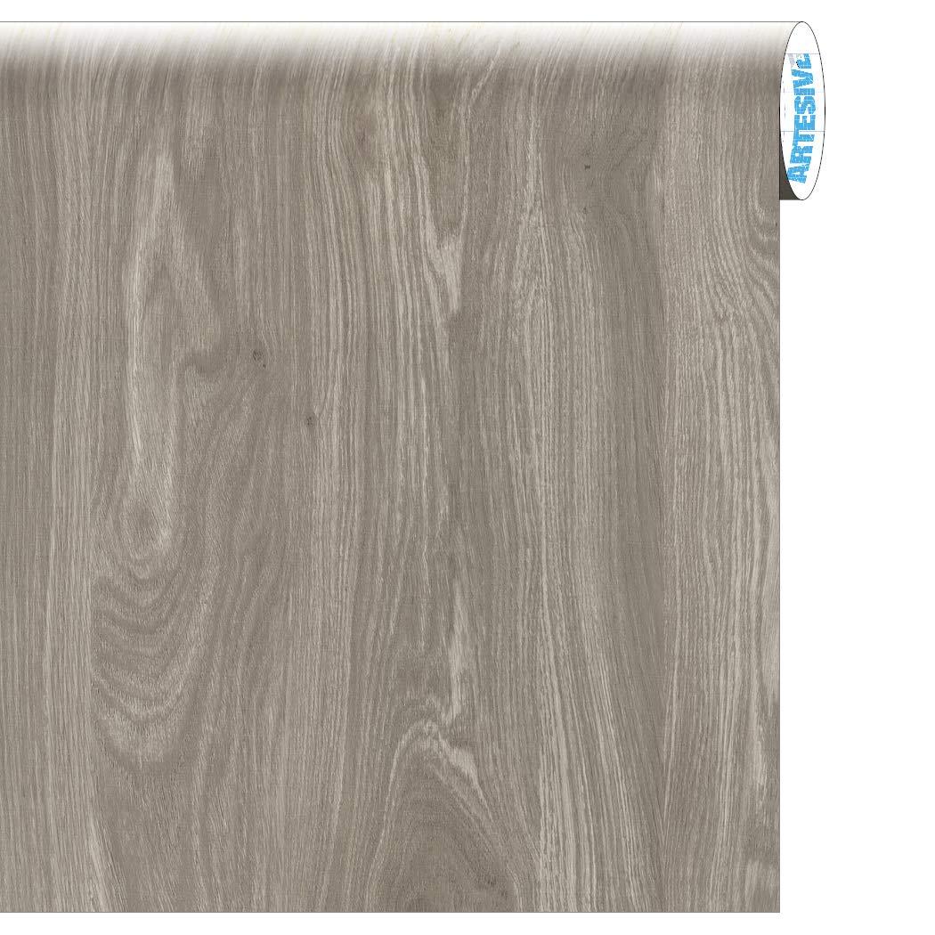 ARTESIVE WD-061 Roble Gris Claro 30 cm x 2,5 MT. - Película Adhesiva: Amazon.es: Hogar