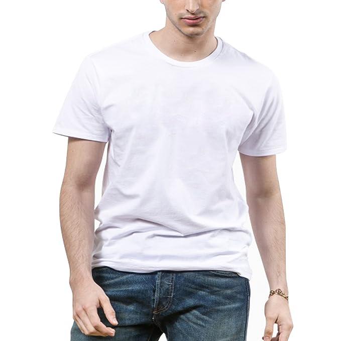 Sidiou Group Camiseta para hombres (Embalaje individualmente) Ropa interior de lujo para él Manga