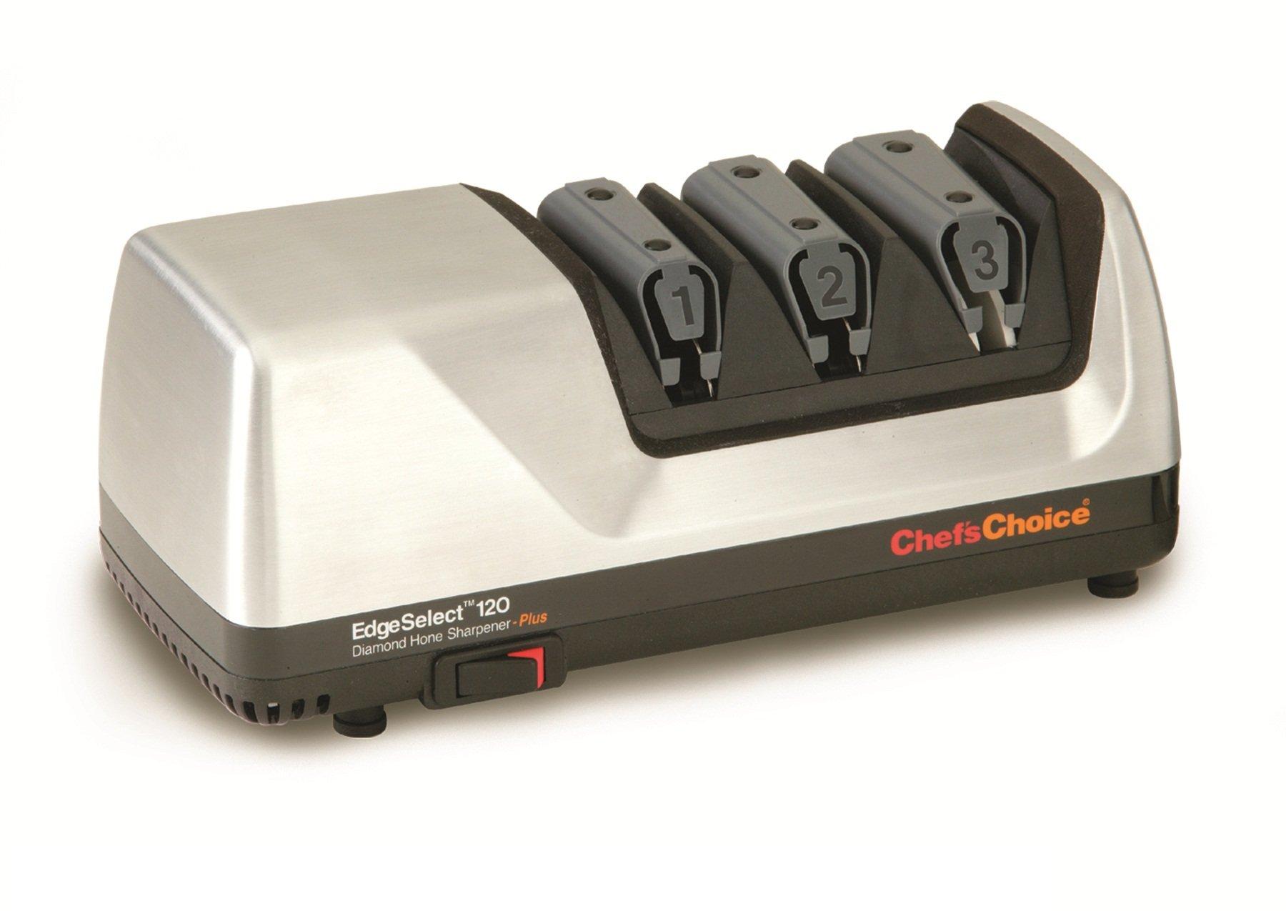 Chef's Choice 120 Diamond Hone Knife Sharpener, Brushed Metal