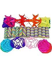 com-four® Party Deko Set mit Luftschlangen, Ballons, Girlanden und Ballon Lichtern für z.B. Geburtstage oder Silvester