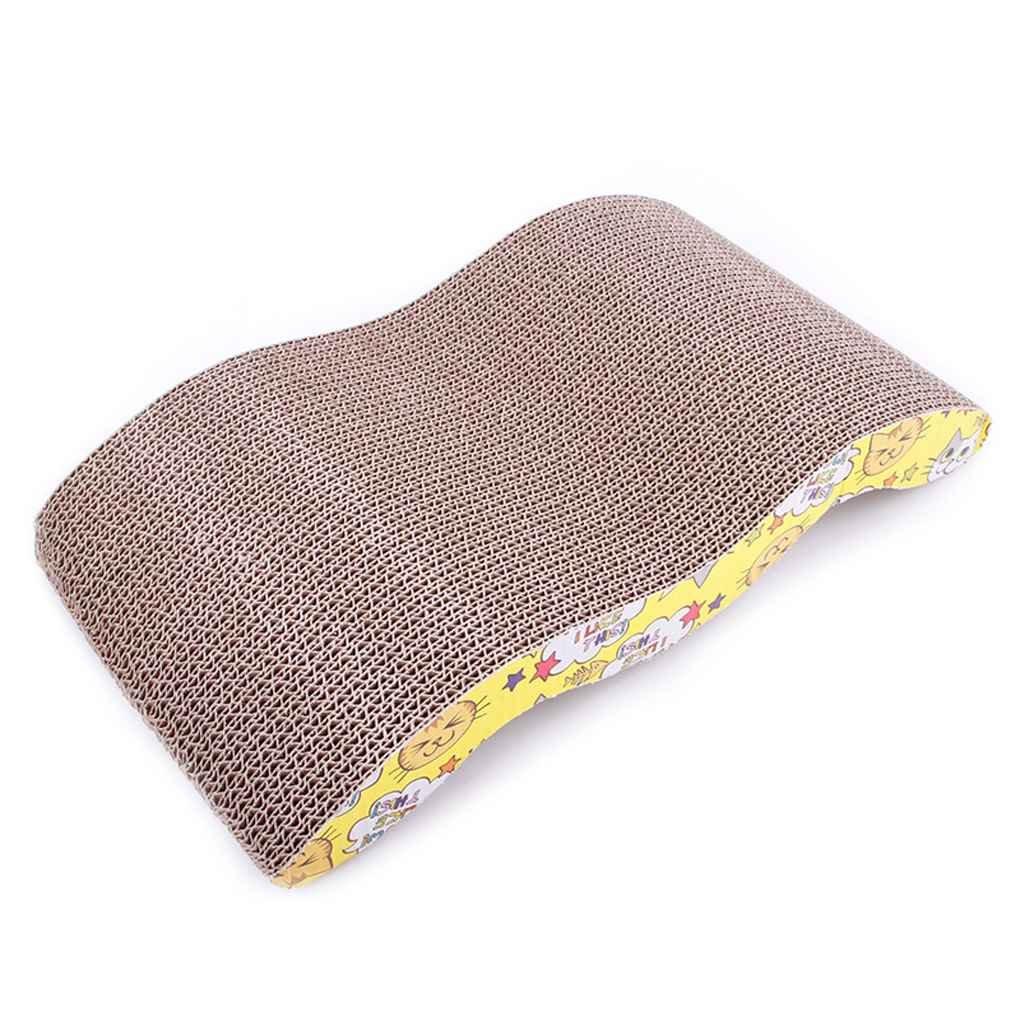 F-blue M-Forma Gioco per Animali Domestici Gatto Che graffia Cartone Ondulato Scratcher Polo Bed Pad Mat