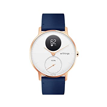 Withings / Nokia Steel HR Hybrid - Reloj, Unisex Adulto, Oro Rosa (Rose Gold), Blanco/Azul , 36mm: Amazon.es: Deportes y aire libre