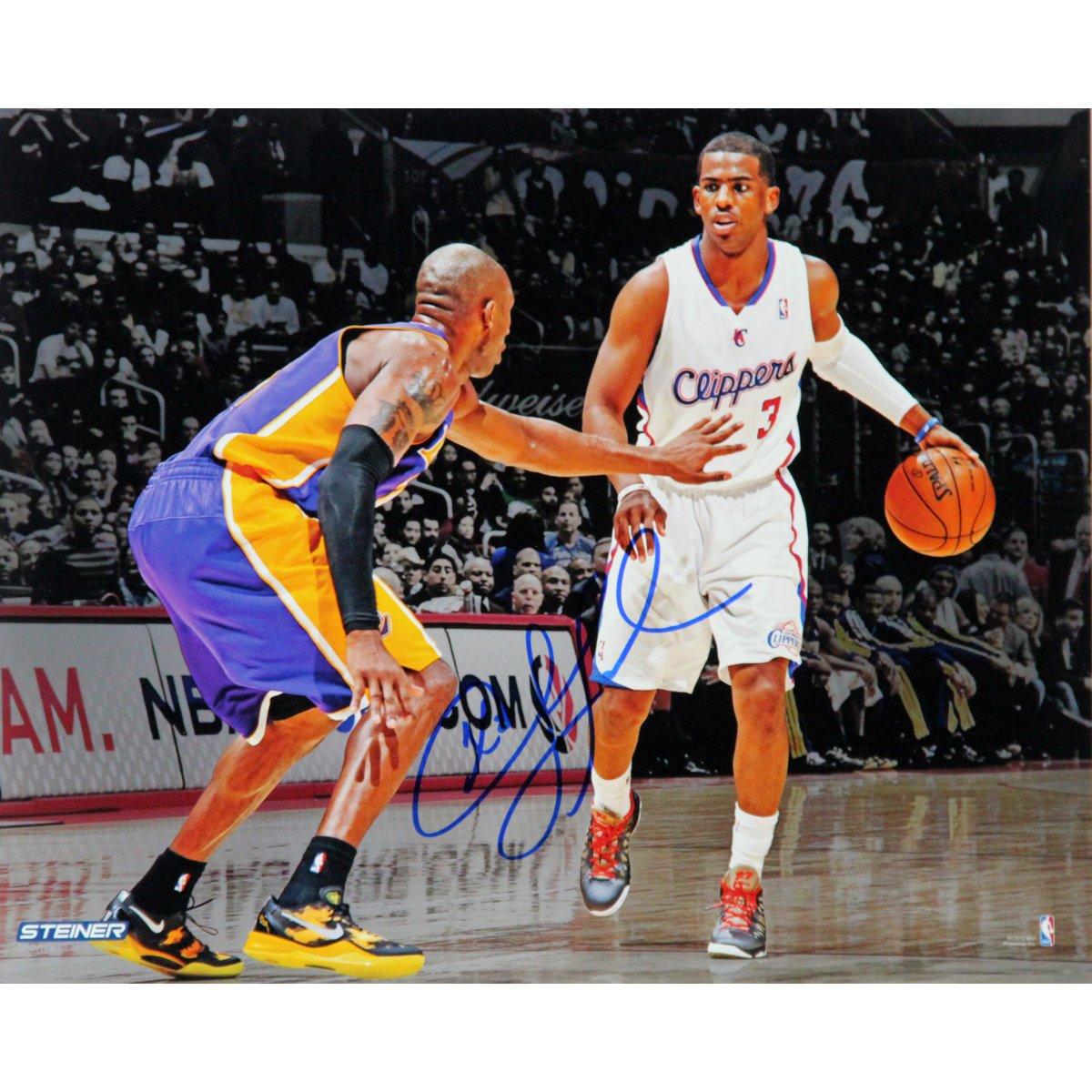 NBA Los Angeles Clippers Chris Paul vs. Kobe Bryant Signed Photo, 8 x 10-Feet