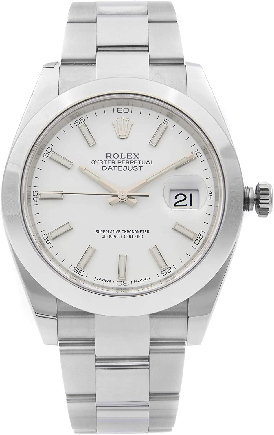 Rolex Oyster Perpetual Datejust White Dial Automatic Men's Watch 126300WSO