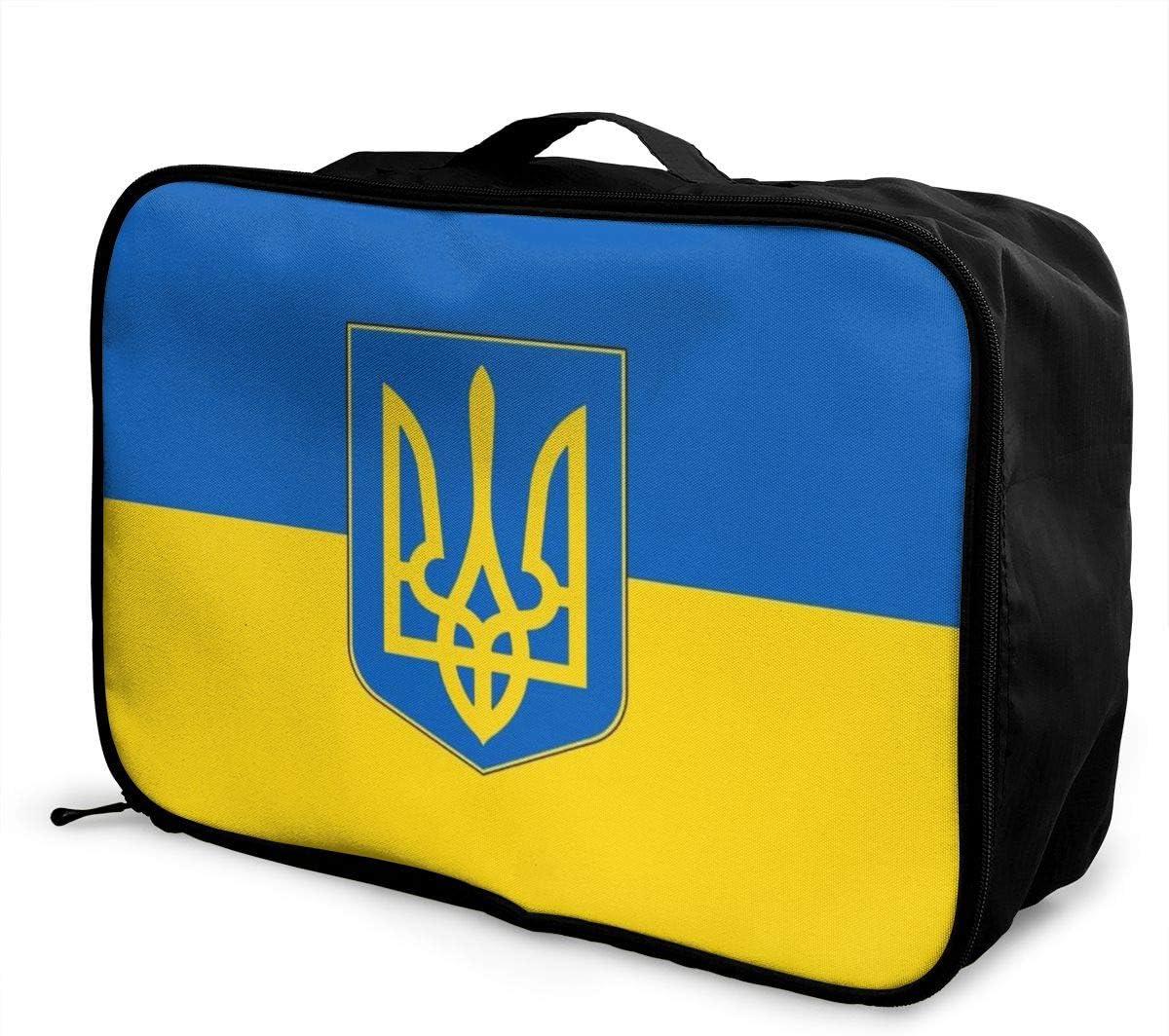 Culora Ukrainian Flag Lightweight Large Capacity Portable Luggage Bag