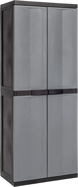Toomax - Armario portaescobas Trend Midi, 65 x 37 x 165 cm, color negro, ref. Z201EA55