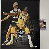 $274 » Autographed/Signed Magic Johnson & Larry Bird Dual 16x20 Basketball Photo JSA COA