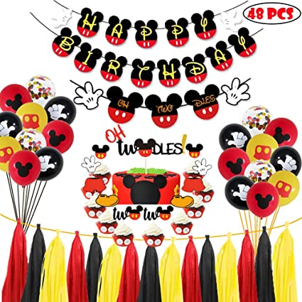 Pleasing Amazon Com Mickey Mouse Oh Twodles Birthday Party Supplies Funny Birthday Cards Online Inifofree Goldxyz