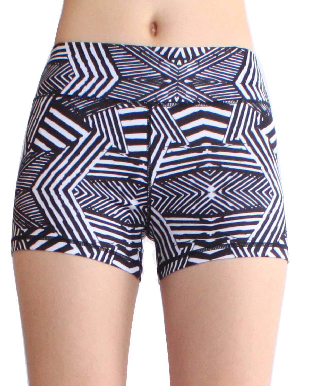 SOUTEAM SHORTS レディース B074VWC59F Small|Black & White Stripe Black & White Stripe Small