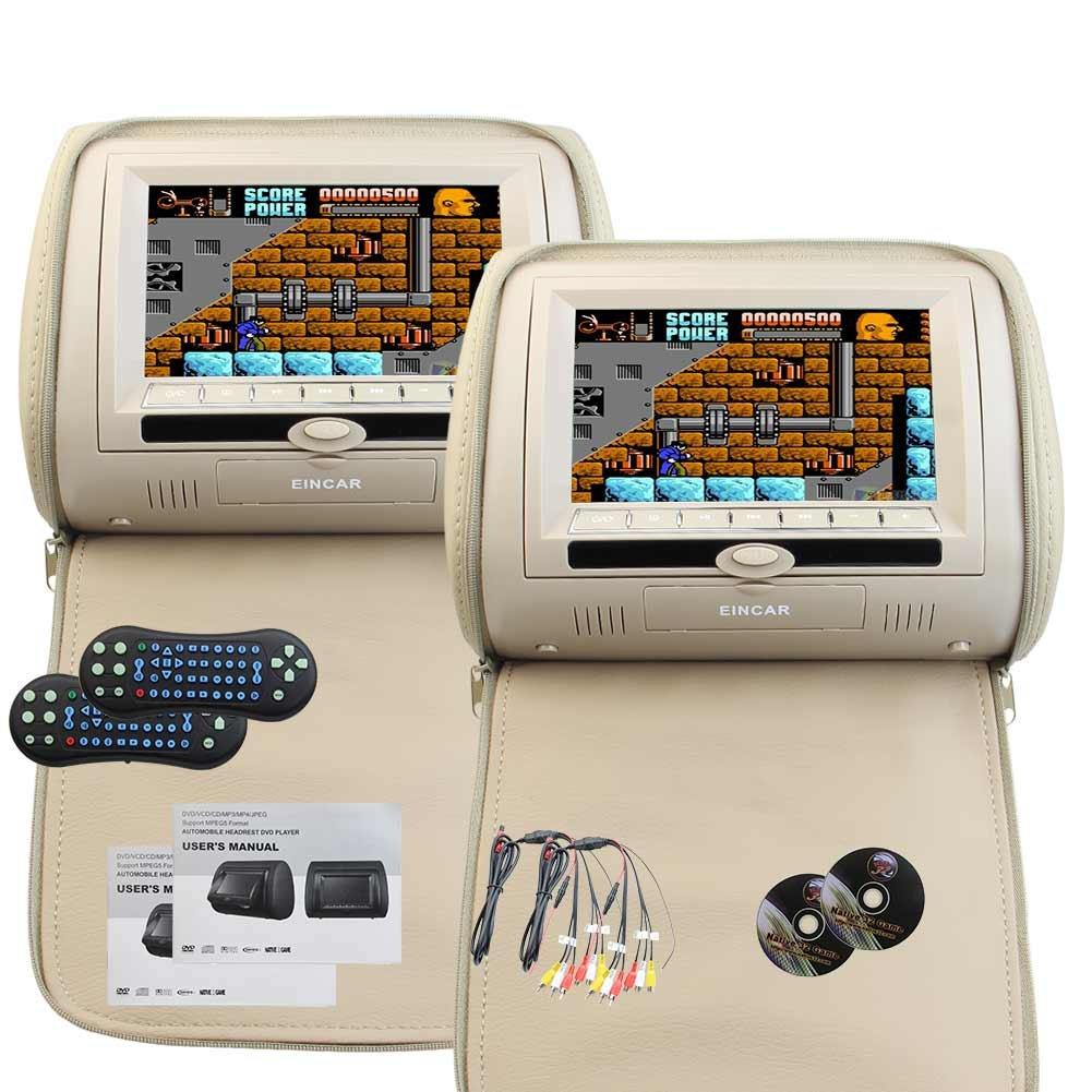 7インチ型 ワイドスクリーンLCD液晶画面 多種言語対応 マルチメディア:動画/画像/音楽入力可 カーヘッドレストモニター デュアルDVDプレーヤー スクリーン 内蔵IR FMトランスミッター 車エンターテイメントシステム リモコン付属 サポート32ビットゲーム B01N5FWXW9