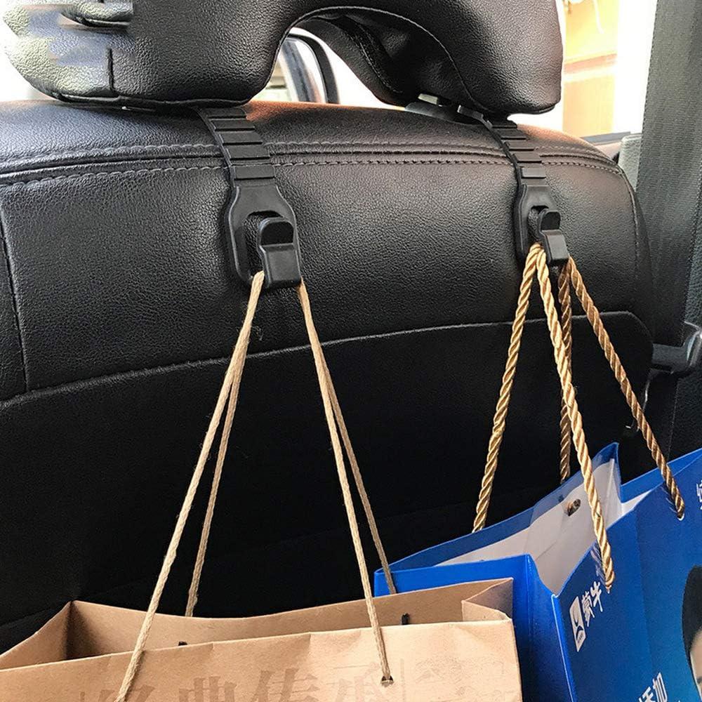 4 piezas para asiento de coche reposacabezas organizador Hanger Almacenamiento gancho bolsa compras bolso mano Asientos traseros universales Perchas del Ganchos montaje la casa Estilo simple