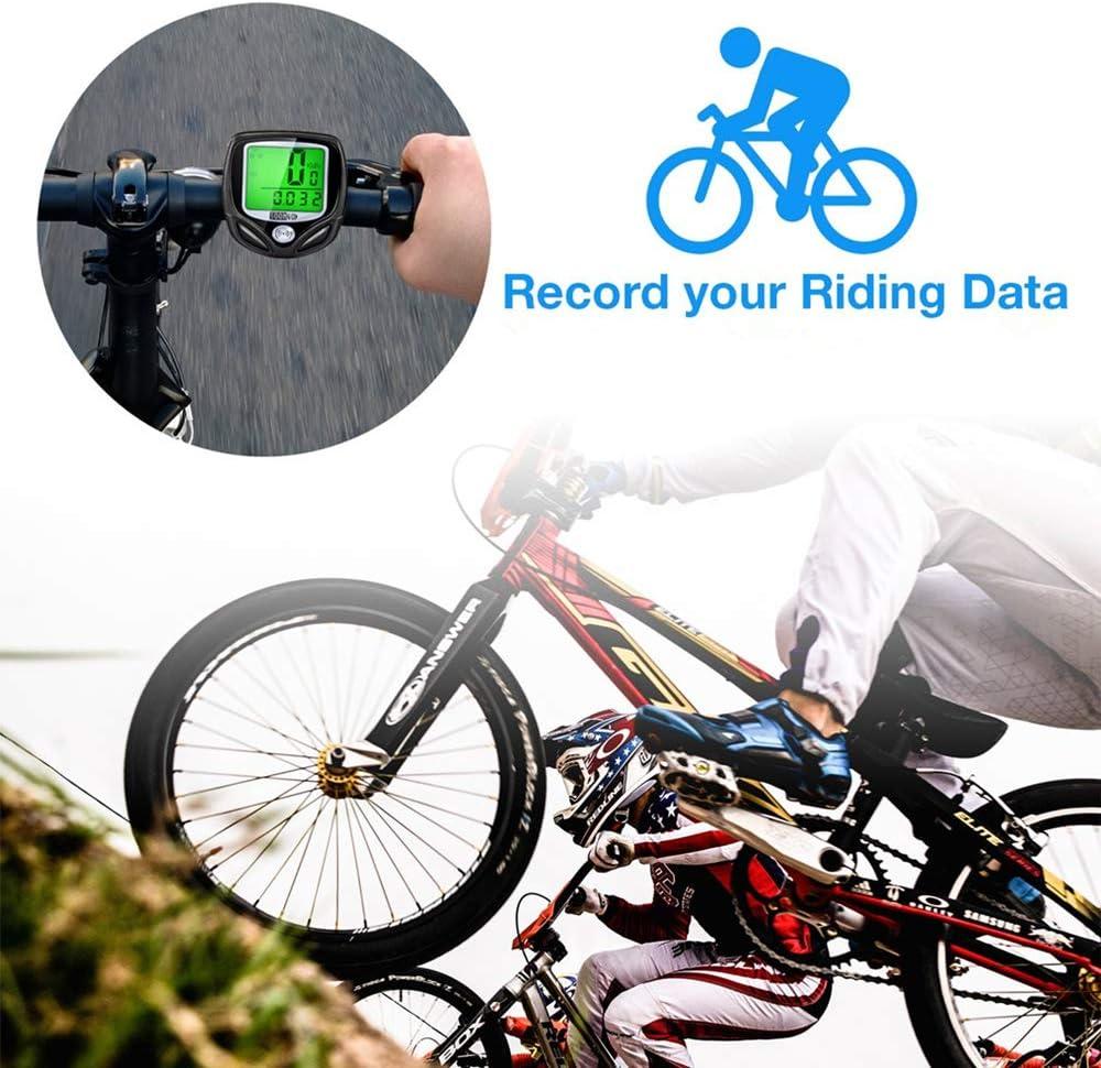 SOONGO Cuentakilometros Bicicleta Velocimetro Bicicleta ...