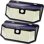 Aootek 182 Led Solar outdoor motion sensor lights upgraded Solar Panel
