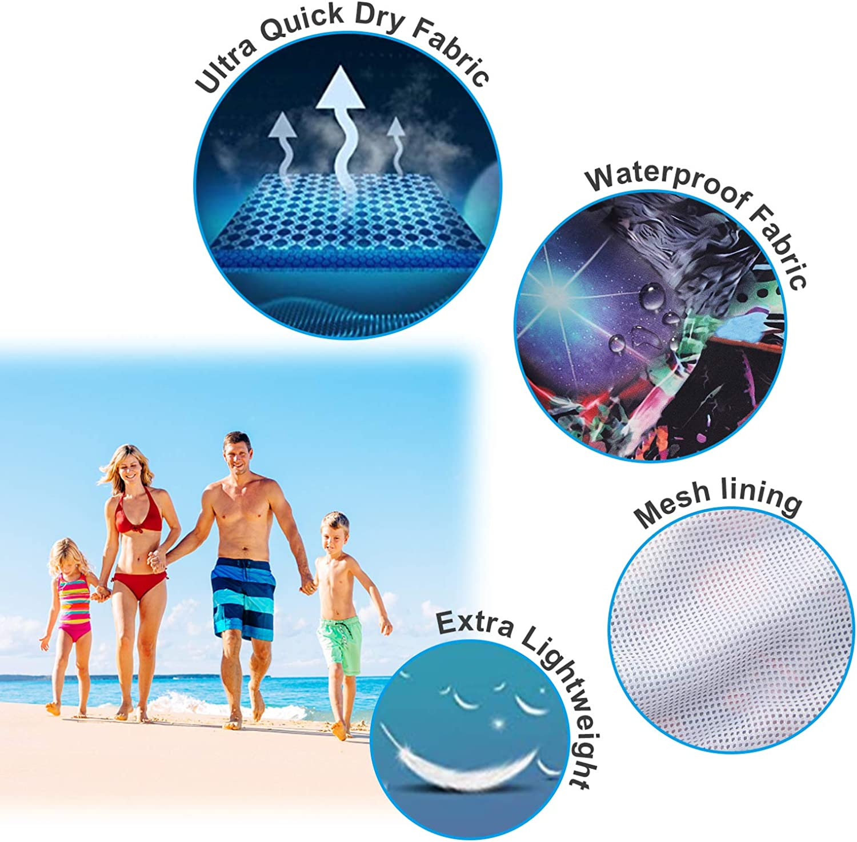 Fanient Boys 3D Printed Funny Swim Trunks Quick Dry Beachwear Sports Running Swim Board Shorts