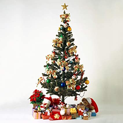 LAZYMOON 6Ft Artificial PVC Classic Unlit Christmas Tree Plastic/Metal  Stand 200 Tips Full Tree - Amazon.com: LAZYMOON 6Ft Artificial PVC Classic Unlit Christmas Tree