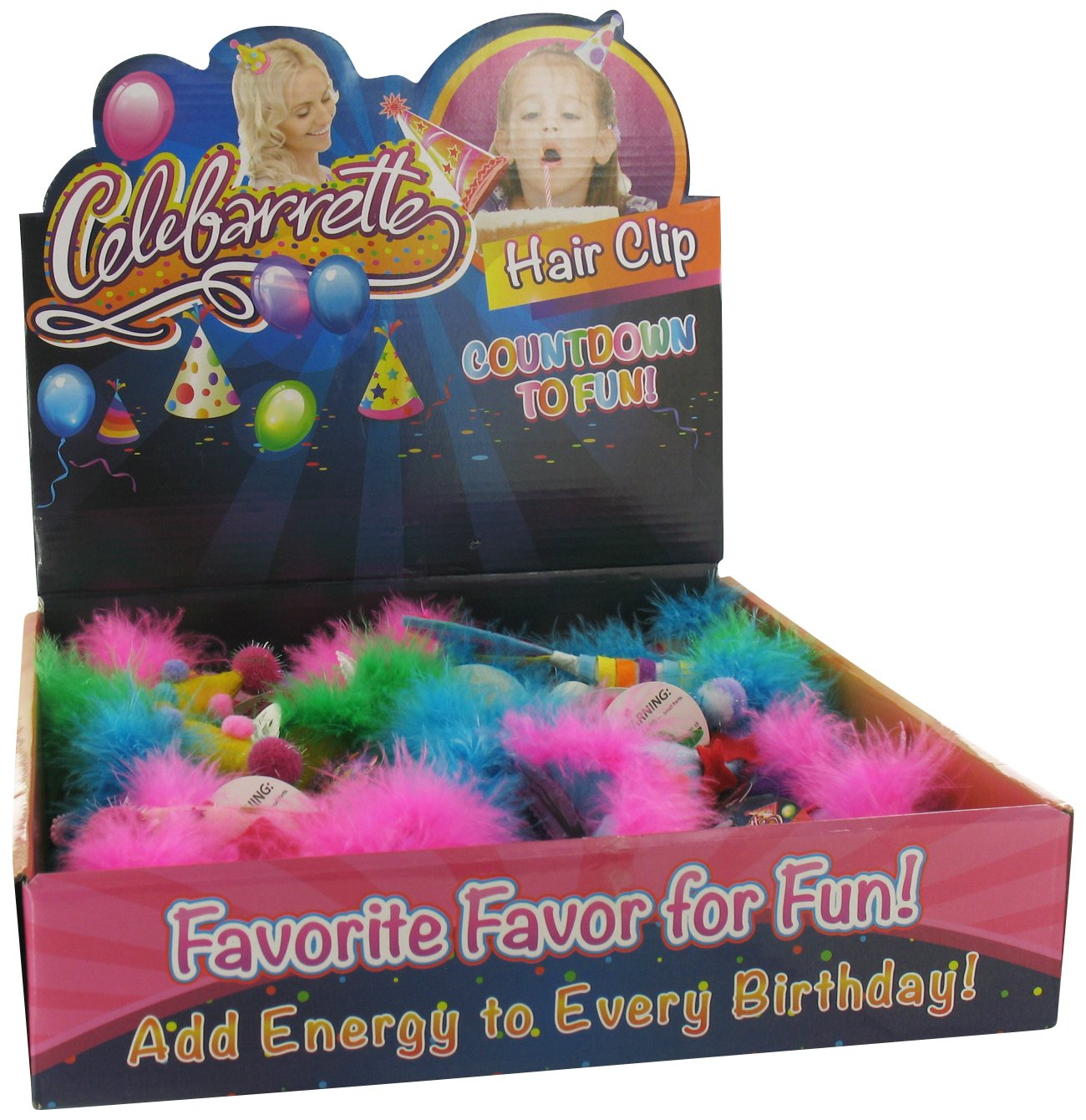Amazon Happy Birthday Hat Barrettes Hair Clip In Assorted Colors 1 Piece Toys Games