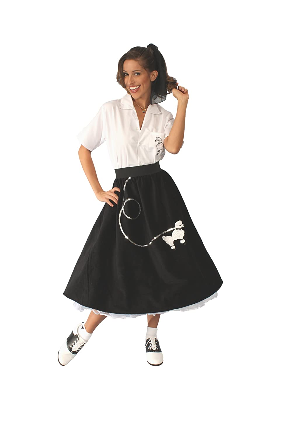 50s Costumes | 50s Halloween Costumes Alexanders Costumes Poodle Skirt $50.00 AT vintagedancer.com