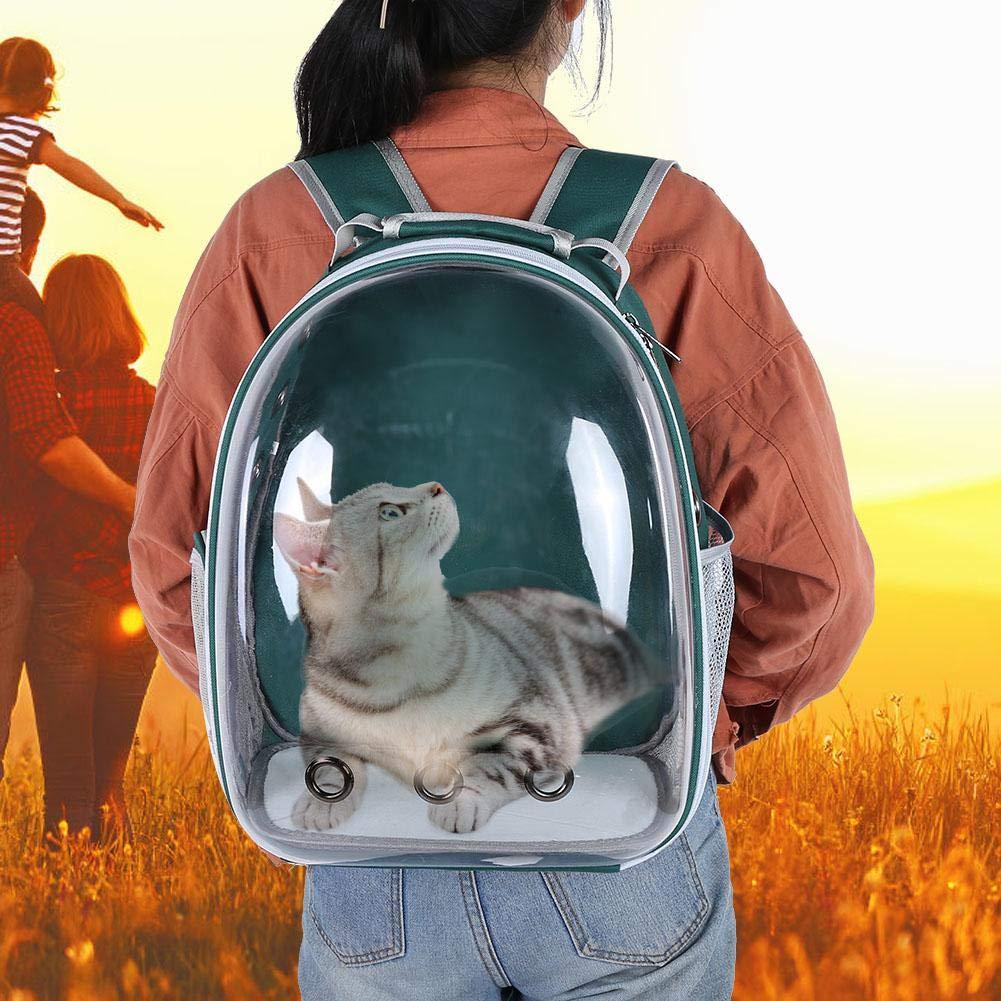 HEEPDD Zaino per Animali Domestici Impermeabile a Capsula Spaziale con Fori di aerazione Traspirante Trasparente Passeggiate allaperto per Viaggi Escursioni