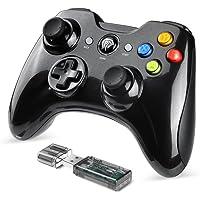 【Manette PC/PS3 sans fil】 EasySMX KC-8236 2.4G Manette de Jeu Rechargeable avec Double Vibrations, 8H d'Autonomie, pour PS3 /PC / Android / Tablette/TV Box