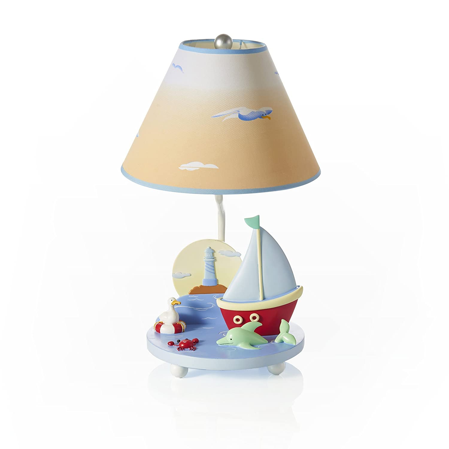Guidecraft Hand-painted & Hand Crafted Gleeful Bugs Kids Table Lamp G88107