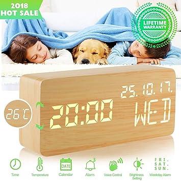 OTTOCASA Reloj de Alarma LED Reloj de Mesa Moderno Reloj de ...